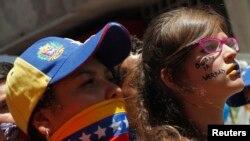 La manifestación fue convocada por líderes estudiantiles de la capital Caracas, que reclaman claridad del gobierno.