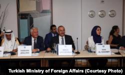 Dışişleri Bakanı Mevlüt Çavuşoğlu New York'ta katıldığı Uluslararası Barış Enstitüsü'nün toplantısında