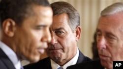 Predsjednik Obama, republikanski lider u Kongresu Boehner, i senatski lider Hoyer