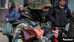 Дебальцево, Украина. 5 февраля 2015 г.