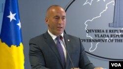 Premijer Kosova Ramuš Haradinaj na konferenciji za novinare u Prištini, 2. maj 2019.