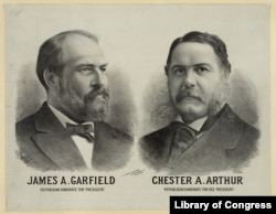 James A. Garfield Republican candidate for president - Chester A. Arthur Republican candidate for vice president. (Library of Congress)