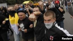 지난 9월 러시아 모스크바에서 벌어진 반 푸틴 시위. (자료사진)