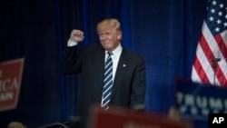 Le candidat républicain Donald Trump à l'Université du Wisconsin à Eau Claire, le 1 novembre 2016.