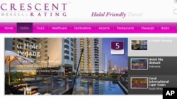 A partial screenshot of crescentrating.com, a website catering to customers looking for Halal friendly travel options