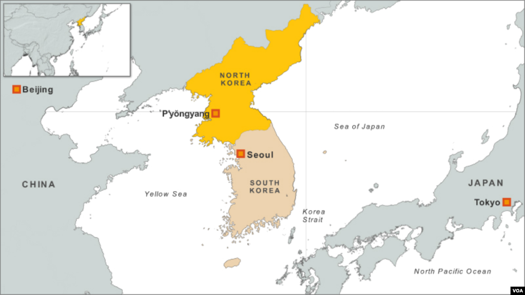 South Korea Repatriates North Korean Fishermen - Map of south korea