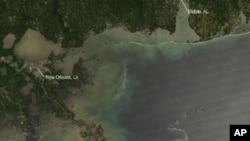Slika s NASA-inog satelita Aqua, 29. travnja 2010.