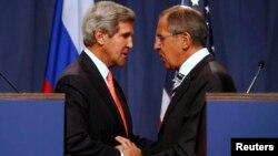 Джон Керри и Сергей Лавров. Встреча в Женеве, 14 сентября 2013г.