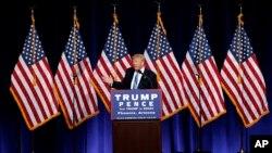 Ứng cử viên tổng thống Đảng Cộng hòa Donald Trump phát biểu tại một cuộc mít tinh ở Phoenix, Arizona, 31/8/2016.