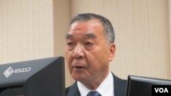 台灣國家安全局長邱國正在立法院接受質詢(美國之音張永泰2020年10月29日拍攝)