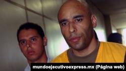 """Edson """"Edinho"""" Cholbi do Nascimento, fils du légendaire footballeur brésilien Pelé, condamné par un tribunal de première instance de Santos à 33 ans de prison, fin mai 2014."""
