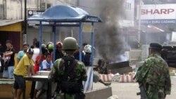 در پی درگیری مسلمانان و مسیحیان در آمبون، نیروهای امنیتی برای برقراری نظم به خیابان ها رفتند. ۱۲ سپتامبر ۲۰۱۱