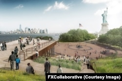 """Nicholas Garrison, design partner for the architecture firm FXCollaborative, describes the Statue of Liberty Museum as """"a landscape piece and a building at the same time."""""""
