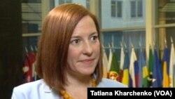 """Selon Jen Psaki, les séparatistes ukrainiens constituent une menace directe pour """"l'ordre mondial moderne"""" (Photo T. Kharchenko, VOA)"""