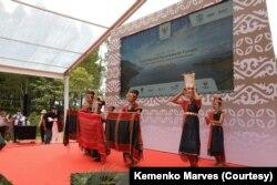 Acara Tourism and Investment Forum sekaligus perayaan 70 tahun hubungan Diplomatik Indonesia dan China di kawasan Danau Toba, Sumatera Utara. (Foto: Courtesy/Kemenko Marves)