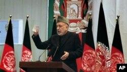 ປະທານາທິບໍດີ Hamid Karzai ແຫ່ງອັຟການີສຖານ ວັນທີ 12 ມີນາ 2011