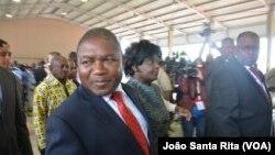 Filipe Nyusi, presiden baru Mozambik di ibukota Maputo.
