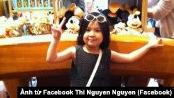 Bé Lê Thị Nhật Linh (Ảnh Facebook Thi Nguyen Nguyen).