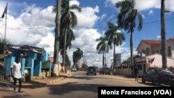 Cidade do Uíge, em Angola