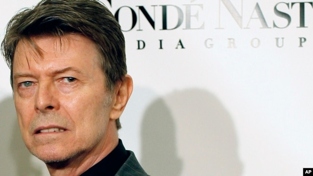 "David Bowie arrives at the Fourth Annual Black Ball Concert for ""Keep A Child Alive"" in New York, October 2008."