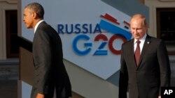 美國總統奧巴馬(左)和俄羅斯總統普京(右)(資料圖片)