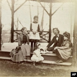 The Clemens family in Hartford, Connecticut in 1884.