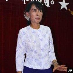 緬甸民主派領袖昂山素姬(資料圖片)