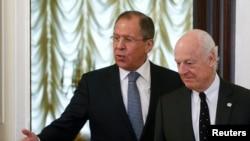 Сергій Лавров і Стеффан де Містура