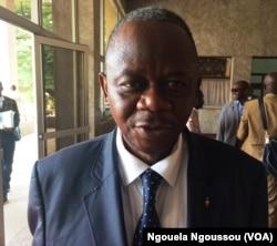 Honoré Nsayi, porte-parole de l'UPADS, à Brazzaville, le 3 juin 2017. (VOA/Ngouela Ngoussou)