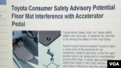 SAD: Nekontrolirano ubrzavanje Toyotinih vozila mehaničke naravi