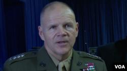 奈勒上将:我有耐心处理普天间基地搬迁问题 (美国之音黎堡拍摄)
