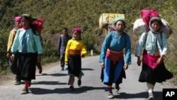 Người Hmong tại Hà Giang, Việt Nam.