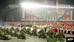 9일 평양 김일성광장에서 북한 정권수립 73주년 열병식이 열렸다.