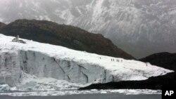 Glaciar de Pastoruri en Huaraz, Perú.