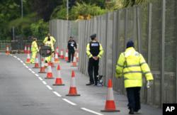 Polisi Inggris memperketat penjagaan keamanan menjelang KTT G-7 di Cornwall (9/6).