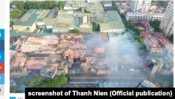 Khu nhà kho Công ty Bóng đèn Phích nước Rạng Đông bị phá hủy do vụ cháy hôm 28/8/2019.