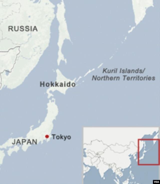 Bản đồ quần đảo Kuril.