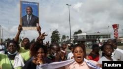 Des soutiens de Laurent Gbagbo à Abidjan, le 1er septembre 2020.