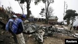 Chiếc Sikorsky bị rơi hôm nay trong quận Pervari của tỉnh Siirt, ở một vùng đồi núi trong điều kiện thời tiết xấu và không có ai sống sót.