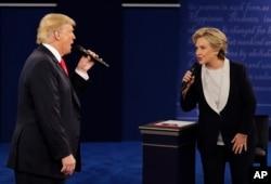 2016年10月9日,美国第二场总统候选人辩论。