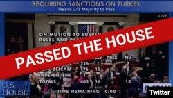 Türkiyəyə qarşı sanksiyalara dair qanun layihəsi böyük səs çoxluğu ilə qəbul edilib