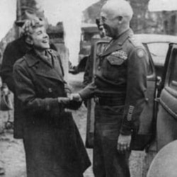 Clare Boothe Luce with George S. Patton, Jr. c. 1944