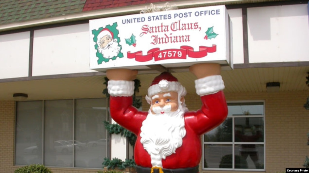 The Post Office In Santa Claus Indiana Where Christmas Carols Are Heard 12 Months