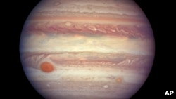 This image from NASA shows Jupiter about 668 million kilometers (415 million miles) from Earth.