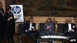 """Srđa Popović, Manal al Šarif i Rašid al Ganuči zauzeli mesto na vrhu liste 100 globalnih mislilaca zbog aktivnog učestvovanja u """"Arapskom proleću"""", Vašington 1.decembar 2011."""