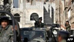 Thành viên trong lực lượng chống khủng bố của Yemen tại thủ đô Sana'a