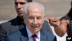 L'ancien président israélien et prix Nobel de la paix Shimon Peres, 8 mars 2016.