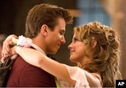 "Julianne Hough, right, and Kenny Wormald in a scene from ""Footloose"""