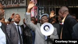 Morgan Tsvangirai addressing supporters in Harare on Thursday.