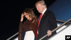 Tổng thống Mỹ Trump và đệ nhất phu nhân đến Buenos Aires, Argentina, hôm 29/11/2018